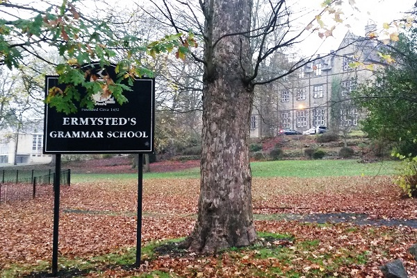 View of Ermysted's from Staff Driveway